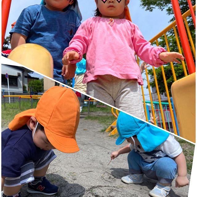 *今日は公園へ︎遊具で遊んだり、砂にお絵描きしたり楽しい時間が過ごせました︎**#公園遊び #電車のみえる保育園 #アドナース #鹿児島市 #かごしま #企業主導型保育園 #小規模保育園 #一時預かり #完全給食 #異年齢保育 0998147173